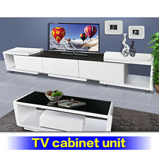 TV Entertainment Unit 3.2M Modern High Gloss Stand Cabinet with  Drawers New