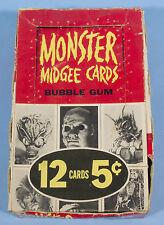 MONSTER MIDGEES GUM CARD BOX Original Topps 1963 rare Monster Laffs AIP