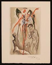 "SALVADOR DALI SIGNED ORIGINAL DIVINE COMEDY PRINT ""TREE OF GOOD / EVIL"" JSA LOA"