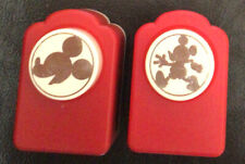 Lot of 2 DISNEY MICKEY MOUSE SCRAPBOOK PAPER PUNCHES