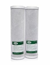 "2 x CARBON BLOCK FILTERS FOR REVERSE OSMOSIS•10""•WATER FILTER REPLACEMENT•"
