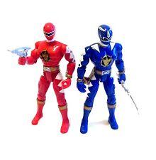 """Power Rangers Dino Thunder juguete de acción de 5 """"cifras Lote Juego De 2 Con Armas"""