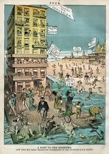 HEBREW FLOATING PALACE ANCHORED OFF CONEY ISLAND BEACH HOTEL JERUSALEM JEW SWIM