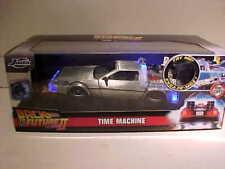 Back to The Future Part Ii DeLorean Time Machine Diecast 1:24 Jada 8 inch Lights