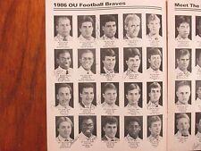 1986  Ottawa University Football Guide(75 Signed/w/GLENN  PERCY/ALONZO  SMITH)