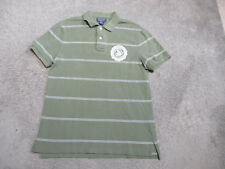 VINTAGE Ralph Lauren Polo Jeans Polo Shirt Adult Medium Green Rugby Mens 90s