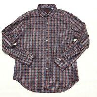 Robert Graham Burntside Men's Size Large Shirt Long Sleeve Classic Fit Flip Cuff