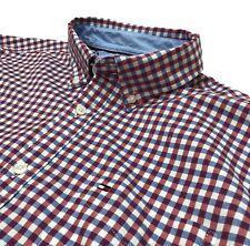 Tommy Hilfiger Mens Shirt Casual Long Sleeve Custom Red Blue Check M, L, XL, XXL
