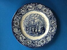 ''LIBERTY BLUE'' - STAFFORDSHIRE - SALAD PLATE - WASHINGTON LEAVING CHURCH ST -