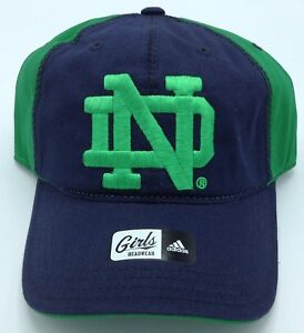 NCAA Notre Dame Fighting Irish Adidas Girls Adjustable Cap Hat Beanie NEW!
