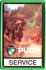 Blechschild 20x30 PUCH Service Motorrad Moped Motocross Österreich Werkstatt
