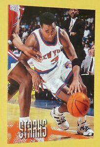 JOHN STARKS NEW YORK KNICKS 1996-1997 NBA BASKETBALL FLEER CARD