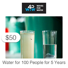 $50 Charitable Donation For: Access to Water for 100 People for 5 Years