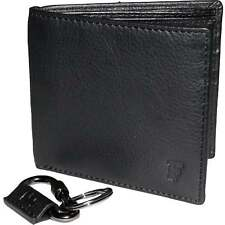 French Connection Classic Leather Wallet & Key Ring Gift Set, Black