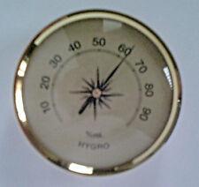 Hygrometer 70 mm, analog, Aluskala gold, Einbau - Aufbau, Deutsches Fabrikat