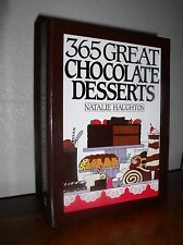365 Great Chocolate Desserts by Natalie H. Haughton (1991, HC,Spiral Bound,1'st)