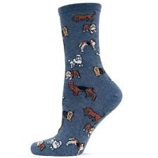 Womens Blue Dog Sock Bulldog Poodle Yorkshire Terrier Harrier Pointer Hot Sox