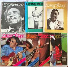 Lot (9) LIVING BLUES MAGAZINES (1982-1994) Pee Wee Crayton, Johnny Copeland ZUZU