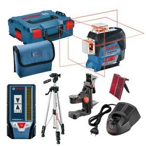 Bosch Kreuzlinienlaser GLL 3-80 C inkl. L-Boxx, Tasche, BM1, BT150, LR7, Akku