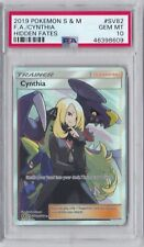 Pokemon S&M Hidden Fates CYNTHIA FA SV82 PSA 10 GEM Mint 2019 Full Art
