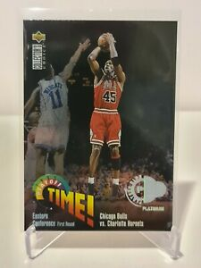 1995-96 Michael Jordan Upper Deck C-Choice Playoff Time Platinum #353 NM Rare