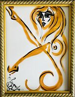 Margarita Bonke Malerei PAINTING art Gold Nu abstract Bild erotica erotika akt