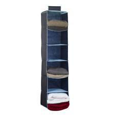 Russel Six Poche Organisateur Garde-Robe, Marine Pull Serviettes Rangement Rack