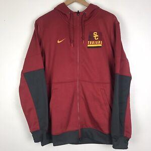 Nike Therma USC Trojans Football On-field Full Zip Hoodie CQ5521-698 Men's Sz XL