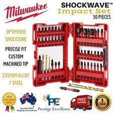 Milwaukee Drill Bit Set SHOCKWAVE Impact Driver Home Wood Metal HoleTools - 50pc