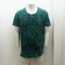 NEW Mens Balmain Green Cotton T-Shirt with Eagle Print GENUINE RRP: £330 Size XL