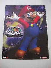 Gamestop Super Mario Galaxy Nintendo Wii Poster