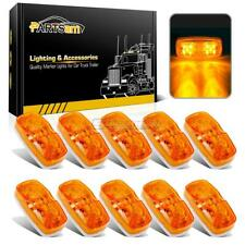 """10) LED Clearance/Marker Lights 4"""" x 2"""" Double Bubble Sealed Lights 10LED Amber"""