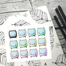 Kawaii television, Planner Stickers, TV, Erin Condren, Happy planner,
