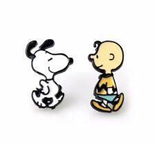 Snoopy Charlie Brown Cartoon Enamel Stud Earrings Gift 🇬🇧