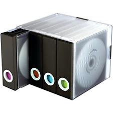 disc organizer cd dvd binder media storage case plastic 96 piece holder black