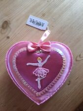 Ballerina heart-shaped jewellery box