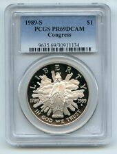 1989 S $1 Congressional Silver Commemorative Dollar PCGS PR69DCAM