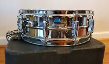 Ludwig 5x14 Super-Sensitive Snare Drum w/Protector Case Rounded B/O Badge
