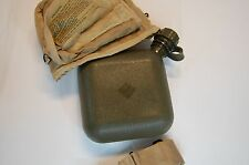US Military 2 QT Water Canteen and Cover Pouch w/ Sling Desert Tan NEW