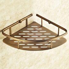 Antique Brass Wall Mounted Bathroom Large Corner Shower Storage Basket ZD532