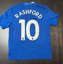 2016-17 Marcus Rashford Manchester United Away Soccer Adidas Jersey Youth L