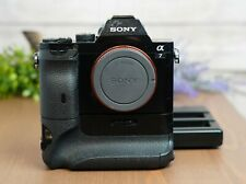Sony Alpha A7 24.3MP Digital Camera - Black (Body Only) w/Battery Grip & Charger