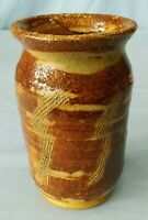 Vintage Studio Art Pottery Stoneware Vase Hand Thrown Salt Glazed Signed