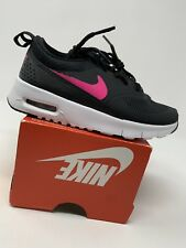 GIRLS: Nike Air Max Thea, Black & Neon Pink - Size 11C 843746-001
