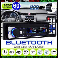1 DIN Autoradio Stereo FM In-Dash SD USB AUX MP3 Player Bluetooth Head Unit