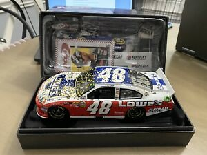 2012 Jimmie Johnson Lowes All Star Win Elite 1/24 Autographed Rare! DIN #40