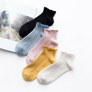 Solid Color Socks Lovely Socks Breathable Hemming High Quality Casual Stockings