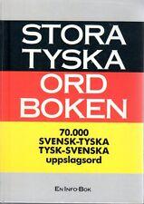 Wörterbuch schwedisch,Stora Tyska Ordbok Ordboken,70000 Wörter tysk svensk