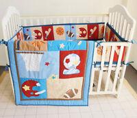 Baby Bedding Crib Cot Quilt Set 9pcs Quilt Bumper Sheet Dust Ruffle