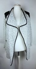 Wallis Ladies Ivory Open  Front Knit Long Cardigan Size L Lagenlook Layering
